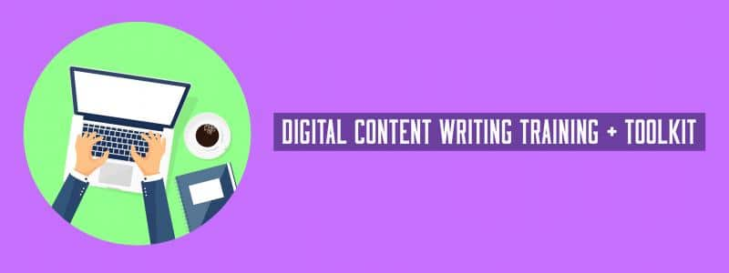 digital content writing training + toolkit