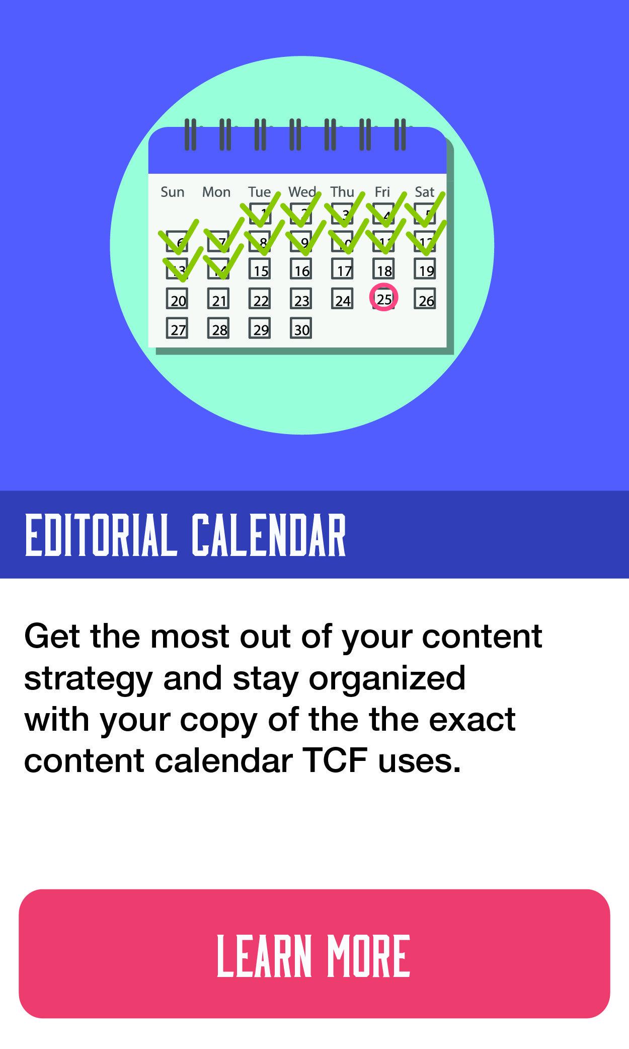 Editorial Calendar Template
