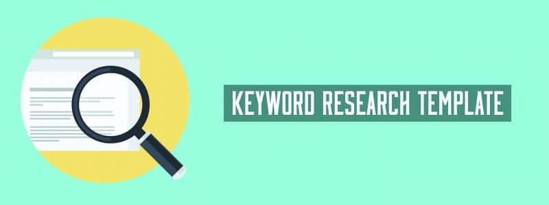 keyword research template