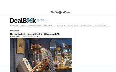 The New York Times: On To Do List: Deposit Cash in Bitcoin ATM