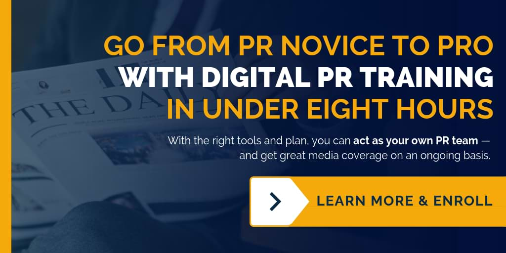 Go from novice to pro with online digital PR training from TCF.