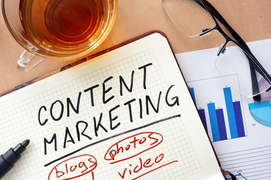 Content marketing: blogs, photos, videos