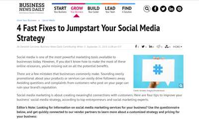 4 Fast Fixes to Jumpstart Your Social Media Strategy