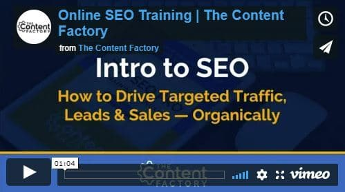 The SEO 101 Online Video Training Series