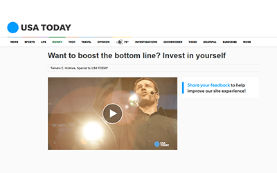 USA Today: Want to boost the bottom line? Invest in yourself