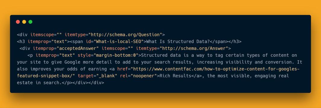 Schema Microdata Question Markup