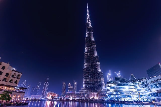 Photo of the Burj Khalifa, the tallest skyscraper in the world.