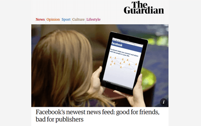 Facebook's newest news feed: good for friends, bad for publishers
